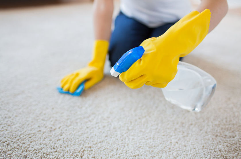 чистка астарелых пятен на ковре