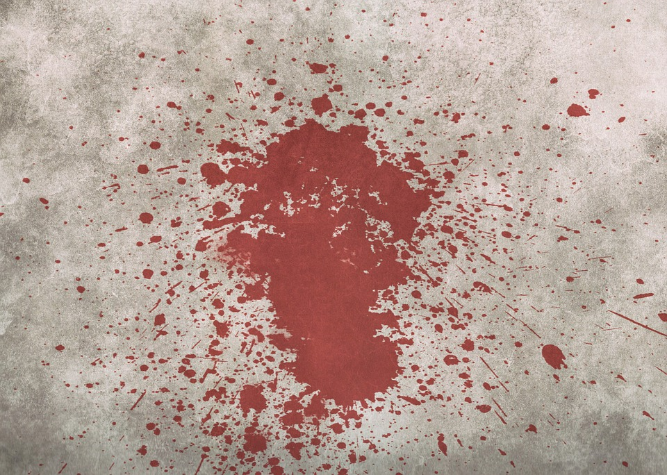 удалить кровь с дивана