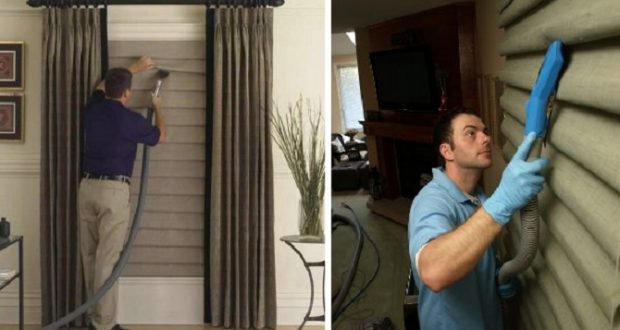почистить римские шторы