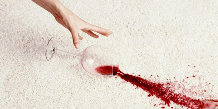 очистить ковер от вина